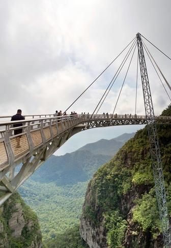 Langkawi Sky Bridge, Malaysia  More like an observation deck, this bridge to nowhere dangles about 2,300 feet above sea level in Langkawi, an archipelago on Malaysia's west coast.