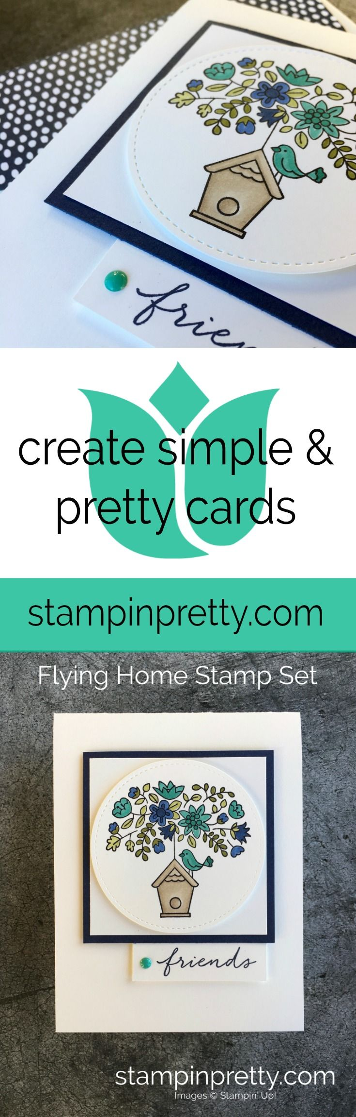 Stampin' Blends Magic and the Flying Home Stamp Set from the 2018 Occasions Catalog from Stampin' Up! Card created by Mary Fish, Stampin' Pretty.  #maryfish #stampinpretty