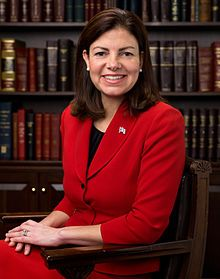 Kelly Ayotte, junior United States Senator from New Hampshire and a member of the Republican Party. Earlier, she served as the Attorney General of New Hampshire. Ayotte is pro-life and believes that abortion should be prohibited except in cases of rape, incest, or life of the mother.