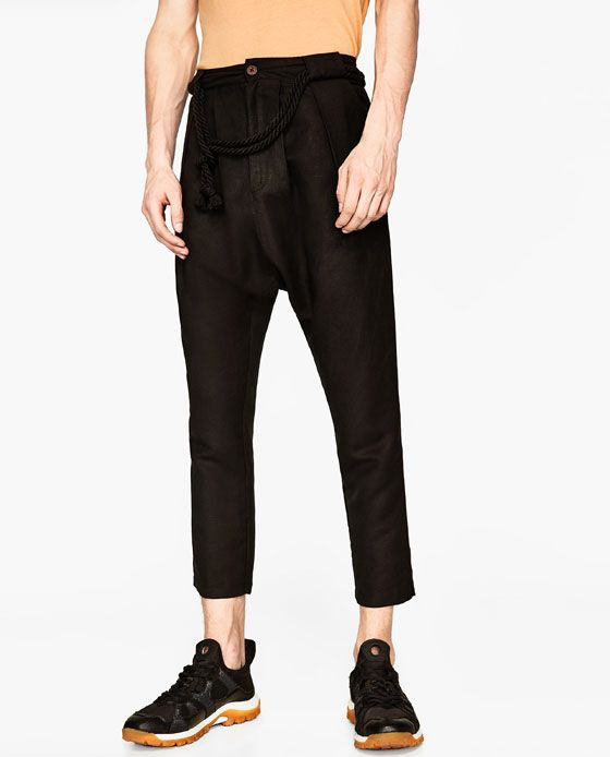 Image 2 of LINEN TROUSERS from Zara