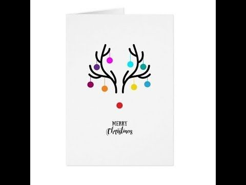 15 Christmas Card ideas - Super easy and fun to make.