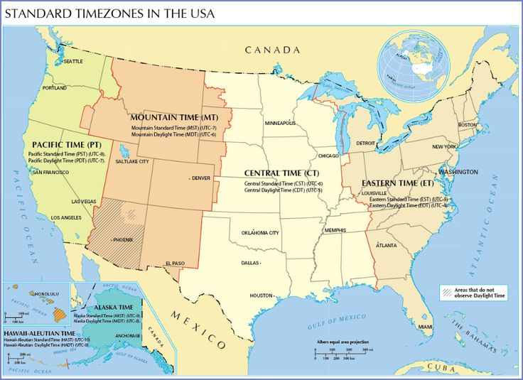 Us Map Is Showing The Time Zones Of The United States And The Actual Time In The Different Time Zones Time Zone Map United States Map North America Map