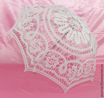 Свадебный зонтик - белый,зонт от солнца,зонтик,аксессуары для свадьбы