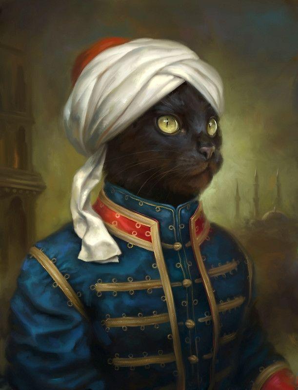 Lámina fotográfica 'The Hermitage Court Moor Cat' de Ldarro