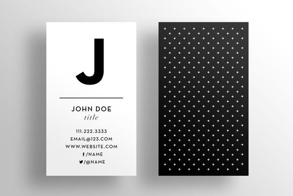 The Initial - Business Card Template by SOCALARTS on Creative Market