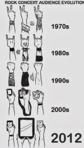 Music Humor | Rock Concert Audience Evolution | From Funny Technology - Google+