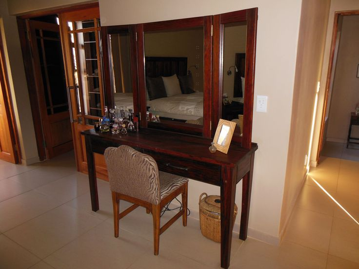 Sleeper wood dressing table, designed for a private house on a safari park in South Africa