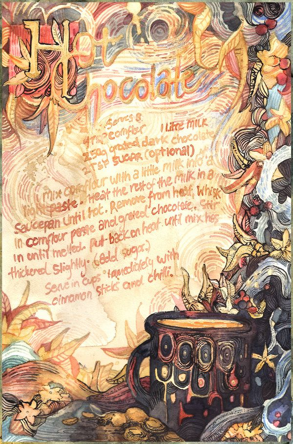 Spanish Hot Chocolate by PaperandDust on DeviantArt