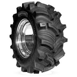 The Kenda Executioner ATV tire is one of the meanest mud tires around.    One look at the aggressive, directional tread design and the deep lugs and you can tell this tire is ready for the biggest mud puddle you can find.    The deep, widely spaced lugs provide great cleanout, and the rim saver technology protects your wheel from rock & debris damage.    Featuring reinforced knobs, this tire will help reduce knob rollover at lower pressures…