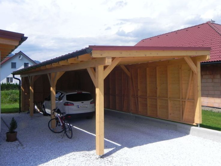 Carports Naturlich Lebenswert Hauser Uberdachungen U Carports Building A Carport Carport Designs Backyard Storage Sheds