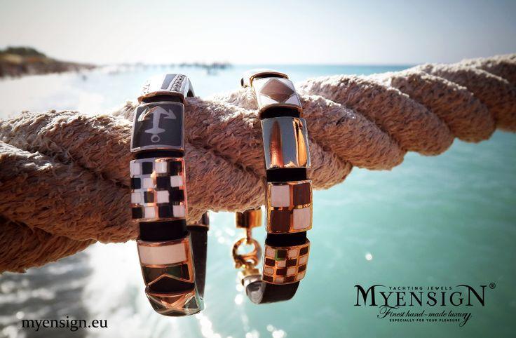 MyEnsign Yellow Gold Bracelets www.myensign.eu