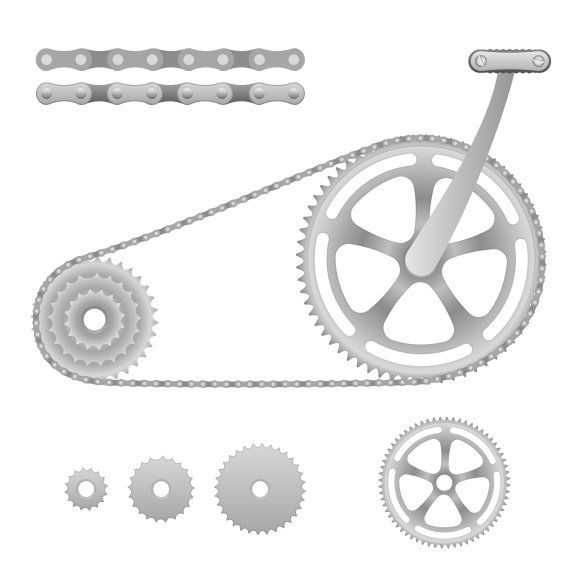 Vector Bicycle Gear Bicycle Gear Bicycle Bicycle Pedals
