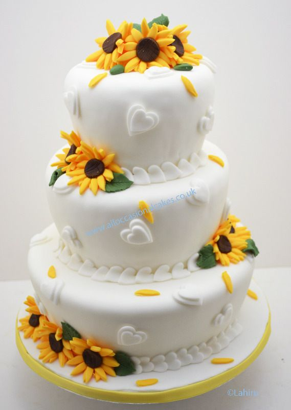wedding cakes with sunflowers | Cake flvours - Cakes for all Occasions