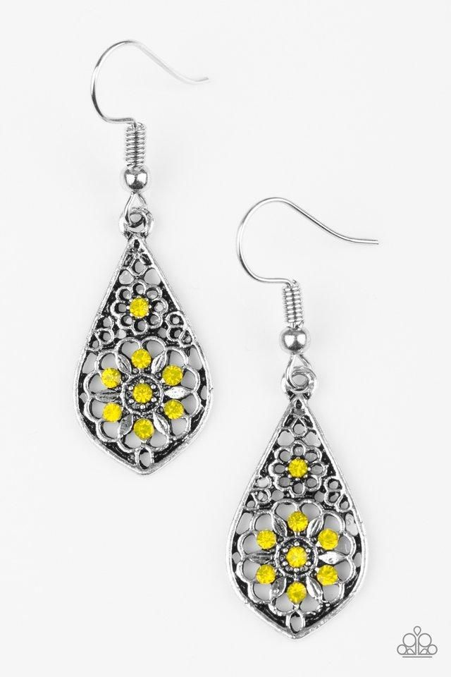 5fc8fe8486 Spring Sparkle Yellow Earrings | Paparazzi Accessories | $5.00 in ...
