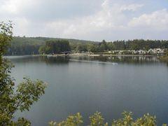 Duiken in België - Barrage de Robertville. Robertville is een toeristisch plaatsje aan de voet van de Hoge Venen, vlakbij het hoogste punt van België (Signal de Botrange op 694 m) met prachtige uitgestrekte bossen van 3.500 hectare. Water is hier een essentiele factor, Robertville trekt ieder jaar tienduizenden toeristen naar het meer van Robertville. Het meer is 80 hectare groot, een gedeelte is afgezet dat als natuurlijk zwembad gebruikt wordt. Er zijn heel wat camping gelegen aan en in…