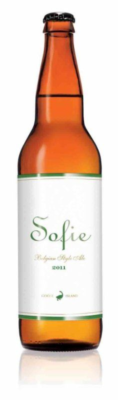 Sofie made by Goose Island. All of their beers are tasty, this one is my favorite though.  This is my new beer !! Perfect beer for women !