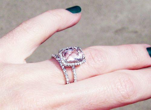 pink diamond engagement rings pink diamond wedding rings photo by maegan tintari - Pink Diamond Wedding Rings