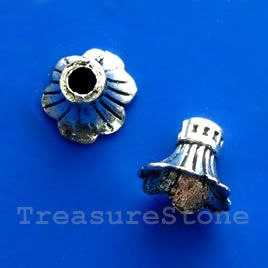 #Cone, antiqued silver-finished, 9x12mm. #TreasureStone Beads Edmonton.