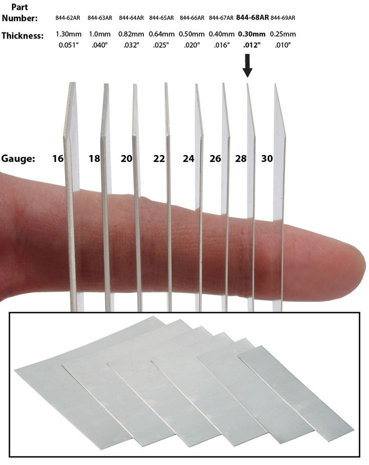 Sheet metal gauge conversion chart   http://www.ottofrei.com/store/image.php?type=D=23127