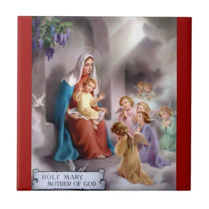 #Jesus & Mother Mary/n Ceramic Tile - #Xmas #ChristmasEve Christmas Eve #Christmas #merry #xmas #family #kids #gifts #holidays #Santa