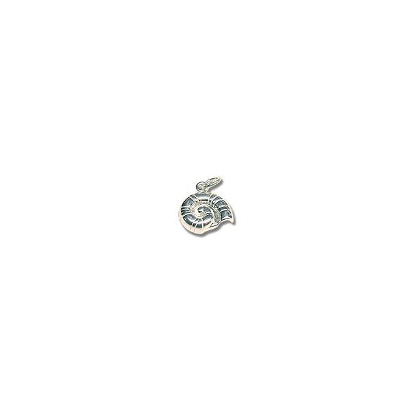 Sterling Silver Nautilus Shell Charm 13mm  | jewelry charms wholesale cheap | Only at JewelrySupply.com