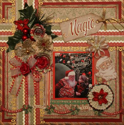 Paper and Passementerie: I did a fun little sparkly, present-wrapped layout...DCWV Christmas Made Stack
