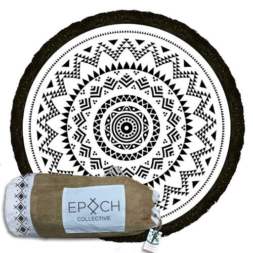 The amazing black and white 'Mayan Eye' Round Beach Towel design is the perfect accessory for your sandy adventures. Get your 'Mayan Eye' Roundie Here Now.