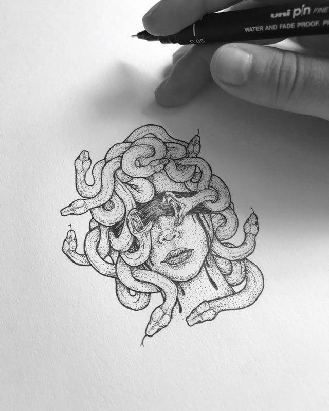 Dream Tattoos, Mini Tattoos, Future Tattoos, Body Art Tattoos, Small Tattoos, Sleeve Tattoos, Cool Tattoos, Tatoos, Medusa Tattoo Design