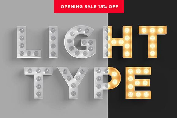 Light Bulb Type by Dashwood on Creative Market