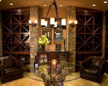 Wine Cellar Room, Mediterranean Wine Cellar, Portland