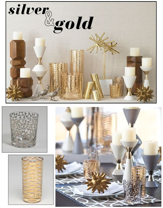 Mixing gold and silver bedroom decor