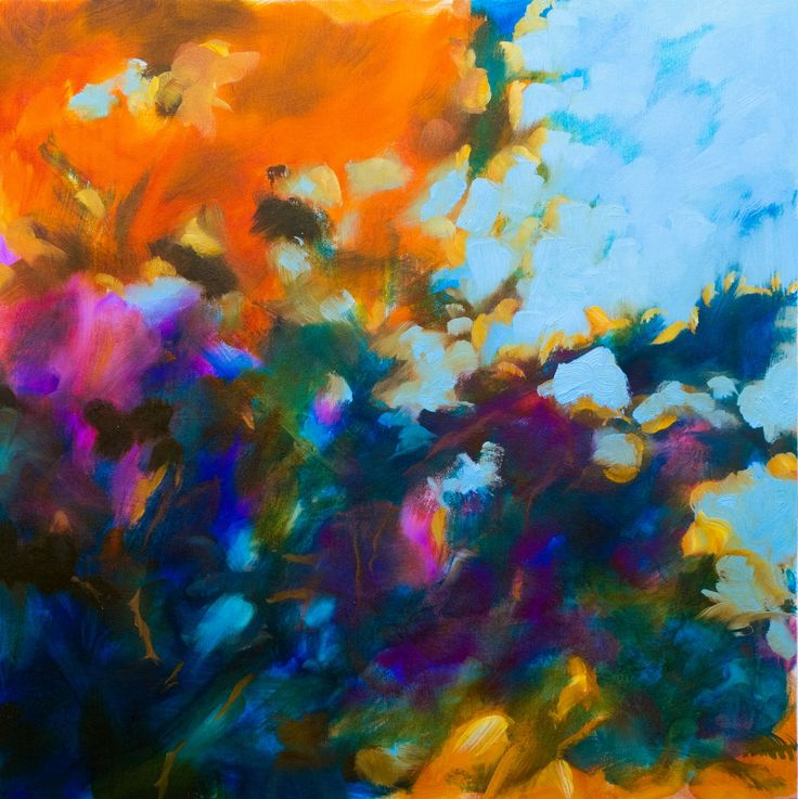 """View """"Floral abstract - Autumn light #2"""" by Fabienne Monestier. Browse more art for sale at great prices. New art added daily. Buy original art direct from international artists. Shop now"""