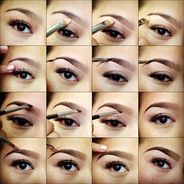 step by step how to fill in brows