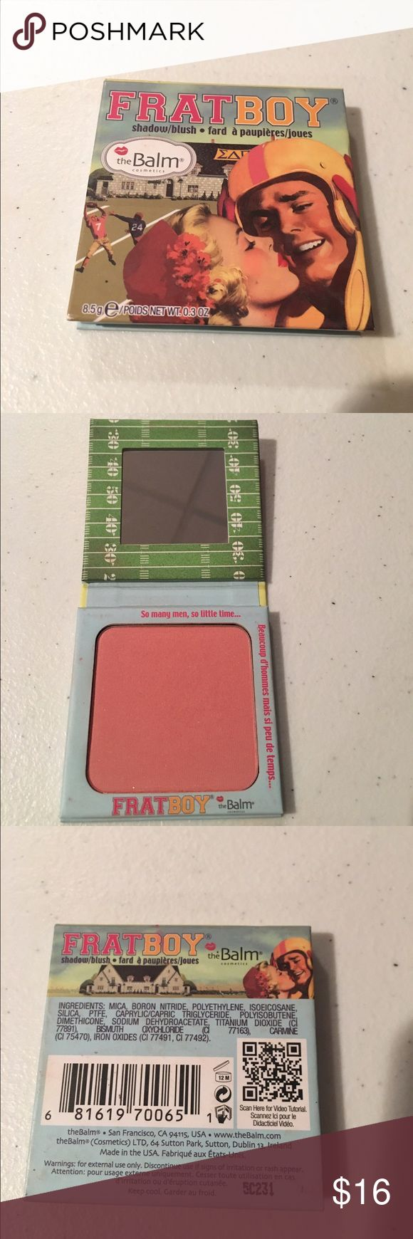 The Balm Frat boy blush The balm fray boy blush/shadow. Barely used, bought and realized I had a very similar shade so selling this one. Great condition. The Balm Makeup Blush
