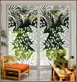 Tropical Oasis Decorative Window Film