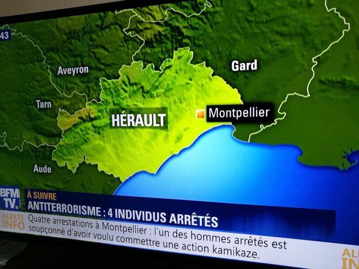 Montpellier quatre personnes arrêtés dans une opération anti-terroriste selon BFMTV
