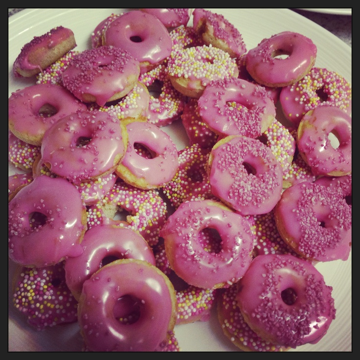 Mini donuts made for a school Xmas party.