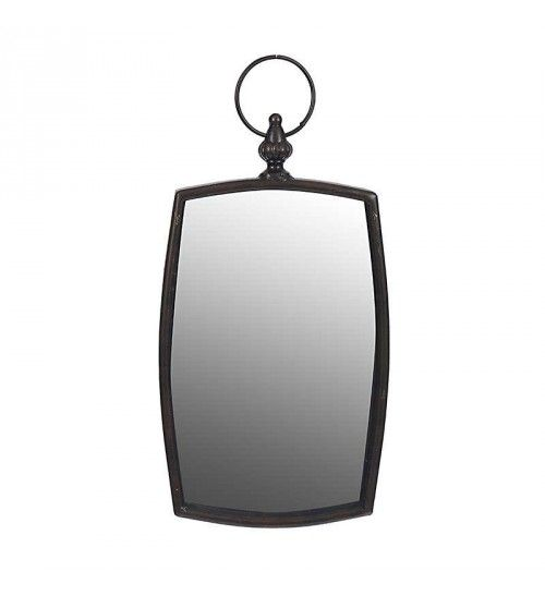 METAL WALL MIRROR IN BROWN COLOR 20X3X31_41