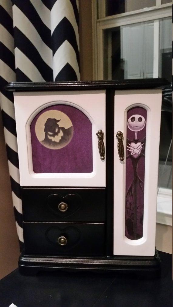 Nightmare Before Christmas Jewelry Box by CraftyMeChristinaB