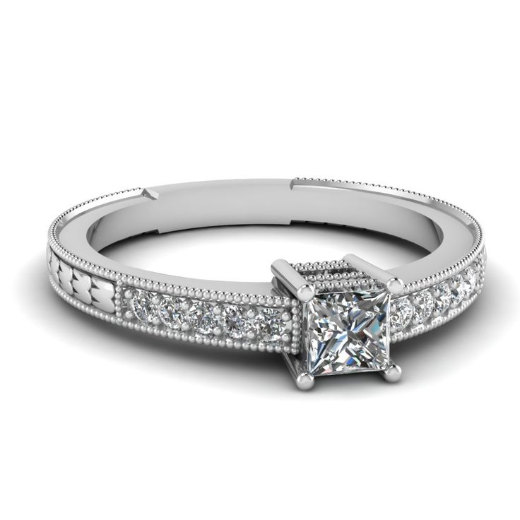 white-gold-princess-white-diamond-engagement-wedding-ring-wth-pave-set