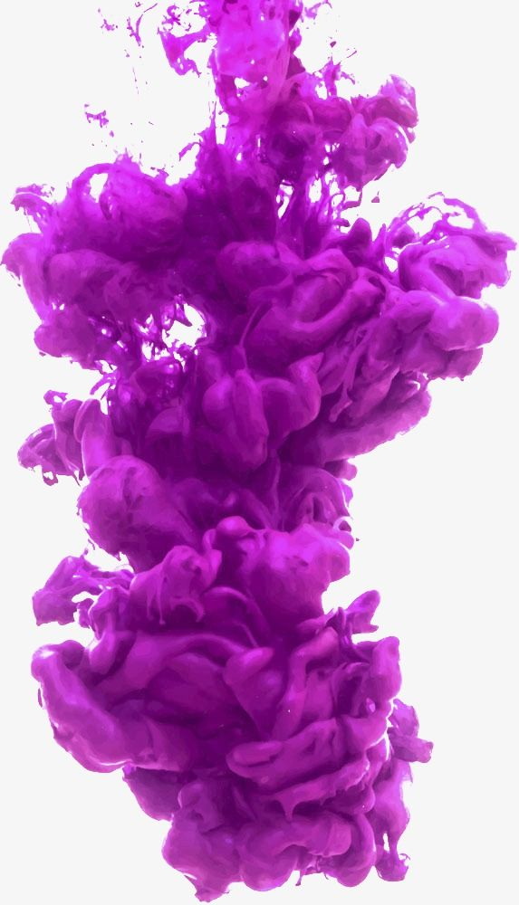 Smoke magic. Purple puff aqueous vector