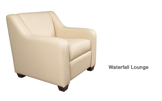 Waterfall by OFGO  Waterfall Series lounge seating is GREENGUARD Indoor Air Quality Certified for a healthier environment, and meets the requirements for low-emitting materials LEED credit 4.5 (systems furniture and seating).  # Office Furniture, Comfort, Ease, Style