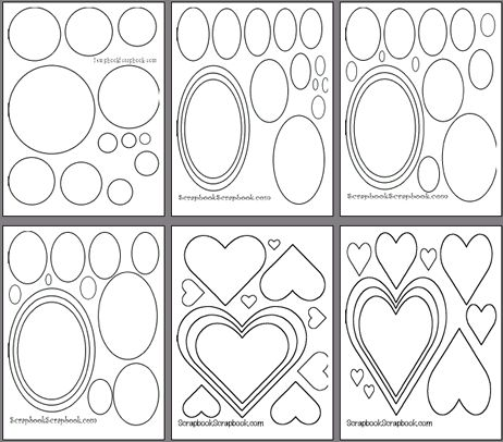 Free printable scrapbooking templates scrapbooking for Templates for scrapbooking to print