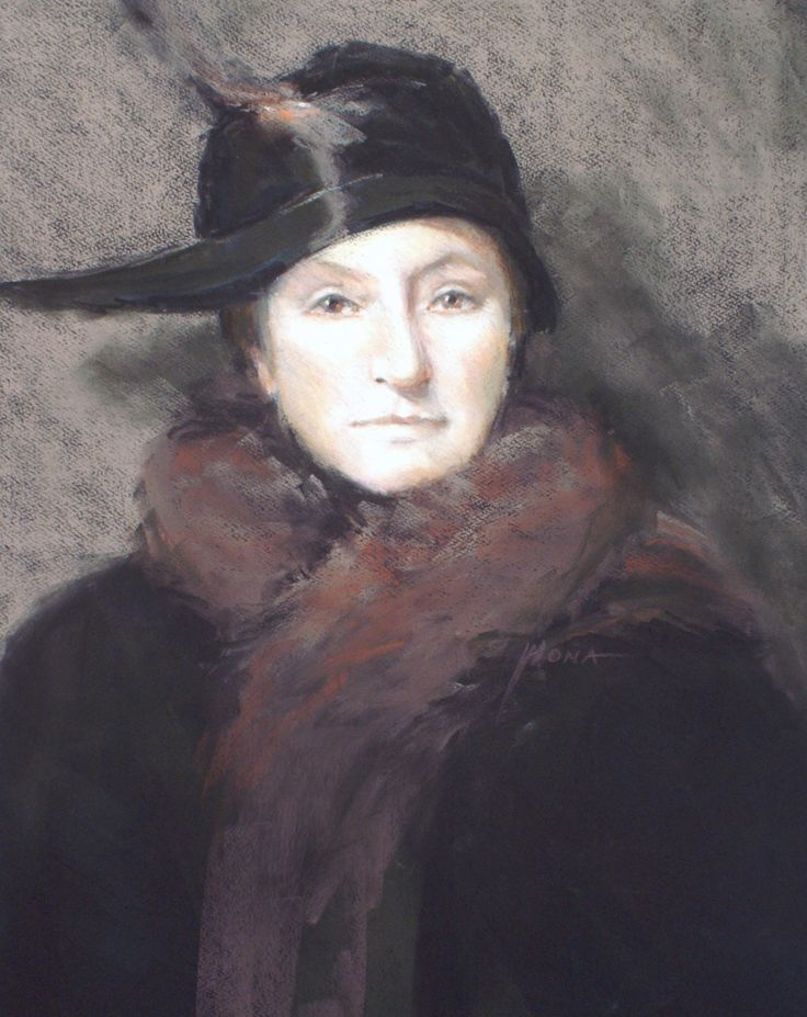 Serenity, pastel by Regina Hona (A young Dame Nellie Melba at age 22) painted for 150 year commemorative exhibition held by The Pastel Society of Victoria, Australia. http://www.reginahona.com