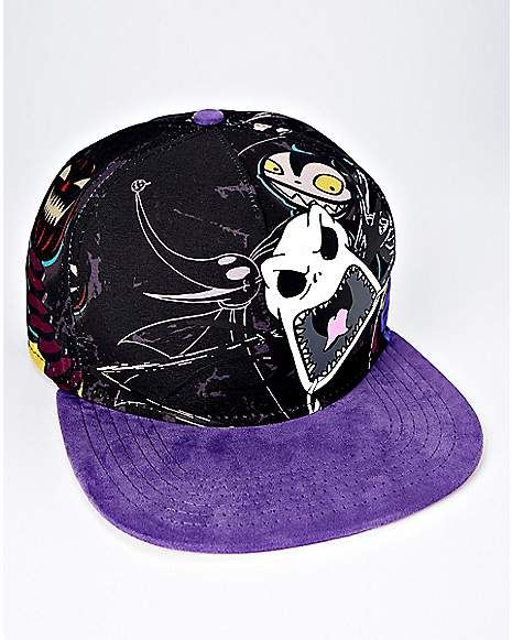 Angry Jack Skellington Snapback Hat - The Nightmare Before Christmas -  Spencer s 9e848867a290