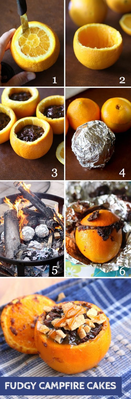 Backwoods Cooking Cake In An Orange