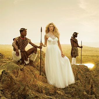 Safari inspired wedding gowns from brides.com. Gorgeous photography! This gown is by Jenny Packham!