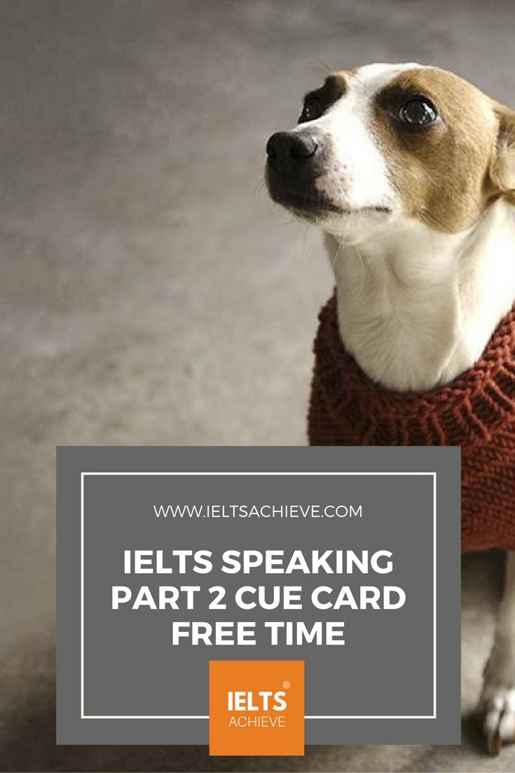 Practice with sample cue cards for the IELTS Speaking Test part 2. You can read a sample question, answers and feedback on the topic - An activity you like to do in your free time.