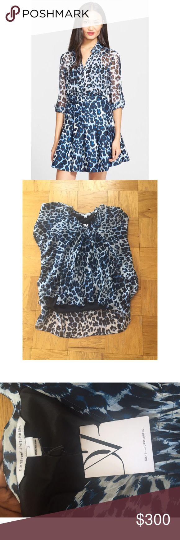 Diane Von Furstenberg Cheetah Print Blouse This shirt is 100% Silk Lining, 97% Polyester, 3% Spandex. Not the same style shirt. Diane von Furstenberg Tops Blouses