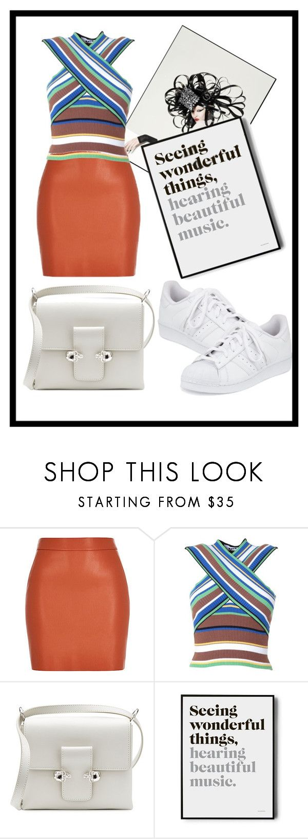 """""""how to wear sneakers to work #1"""" by karouma ❤ liked on Polyvore featuring MSGM, Alexander McQueen and adidas"""